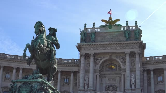 Imperial-Palace-Hofburg-and-Statue-Vienna-Austria