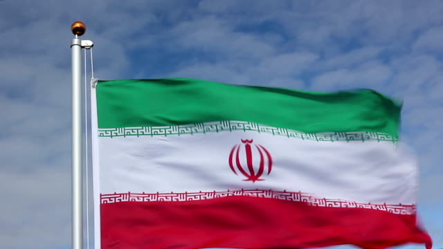 Raising-the-Iran-Flag