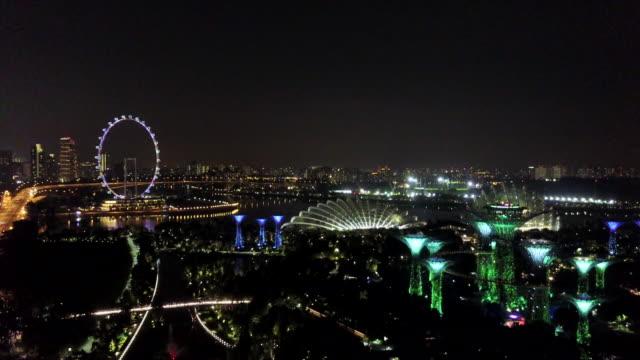 Blick-auf-Singapurs-Skyline-Singapore-Flyer
