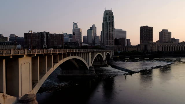 Minneapolis-Skyline---Aerial-Shot