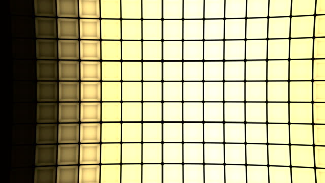Lights-flashing-wall-cubes-bulbs-pattern-static-vertical-stage-background-vj-loop