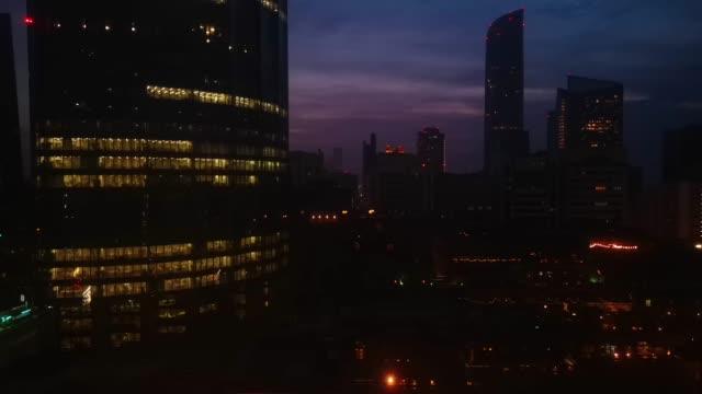 Beautiful-cloudy-magical-sunset-in-Abu-Dhabi-city