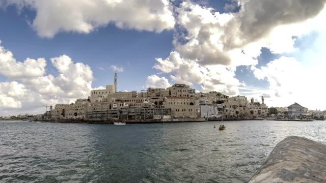 Tel-Aviv-Jaffa-harbor-time-lapse-panorama-