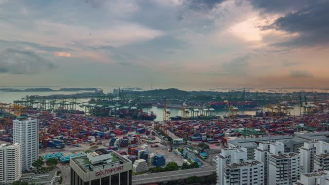hermosa-Singapur-sunset-trabajo-duro-puerto-4-tiempo-k-caer-de-la-azotea