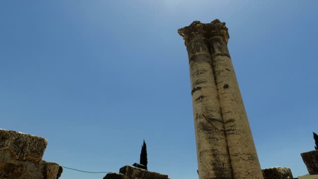 Tops-of-Pillars-in-Ancient-Temple-in-Israel