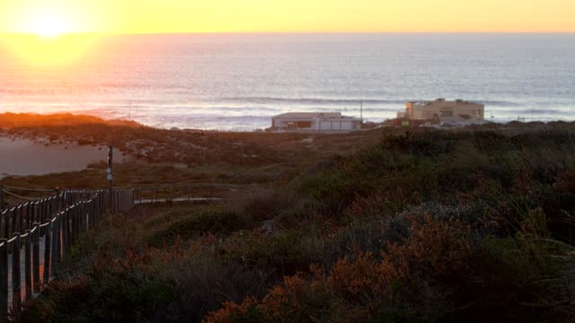 Praia-do-Guincho-Beach-and-Hotel-Fortaleza-on-a-summer-day-in-Sintra-Portugal