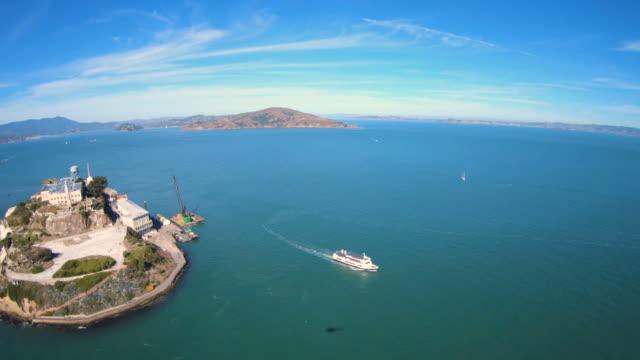 Helicopter-Flying-Over-Alcatraz-Island-San-Francisco-Bay-Area