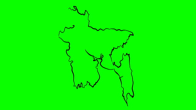 Bangladesh-drawing-colored-map-on-green-screen-isolated-whiteboard