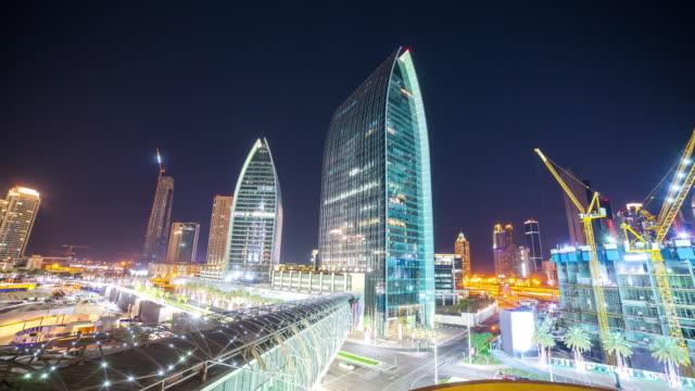 night-dubai-construction-area-4k-time-lapse