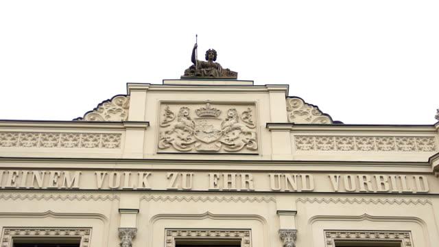 La-parte-superior-del-distrito-de-la-región-de-Baviera-Gobierno-en-Munich-Alemania-Panorámica-Horizontal