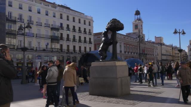España-Madrid-Atestado-puerta-del-sol-panorama-4-K