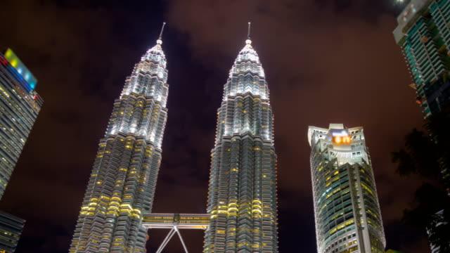 Zoom-centro-de-la-ciudad-de-Kuala-Lumpur-en-rotación-Timelapse