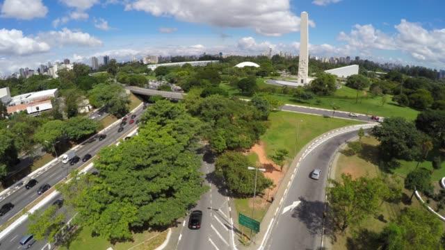 Vista-aérea-de-Ibirapuera,-Sao-Paulo,-Brasil
