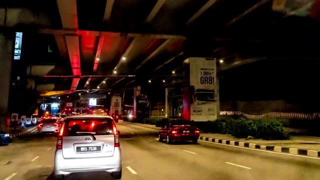 City-traffic-POV-driving-FullHD-timelapse-and-hyperlapse