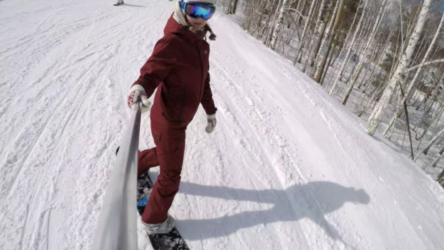 Snowboard-Selfie