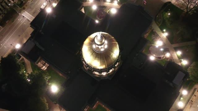 Aerial-of-Atlanta,-Georgia-at-Night