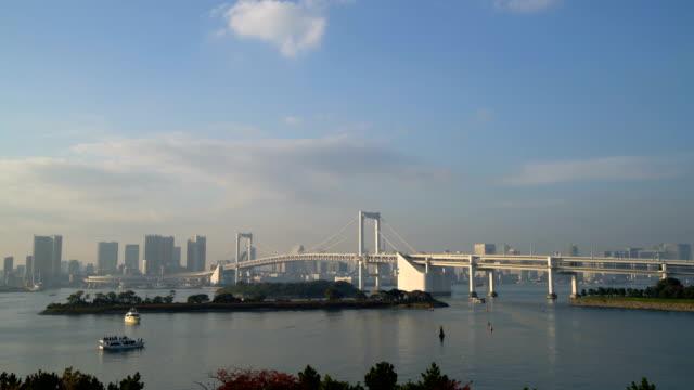 Tokyo-skyline-with-Tokyo-tower-and-rainbow-bridge