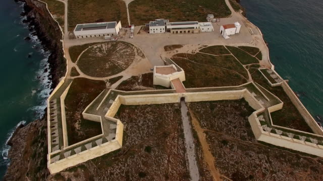 Aerial-view-of-Sagres-Fortress-at-evening-aerial-view-Portugal