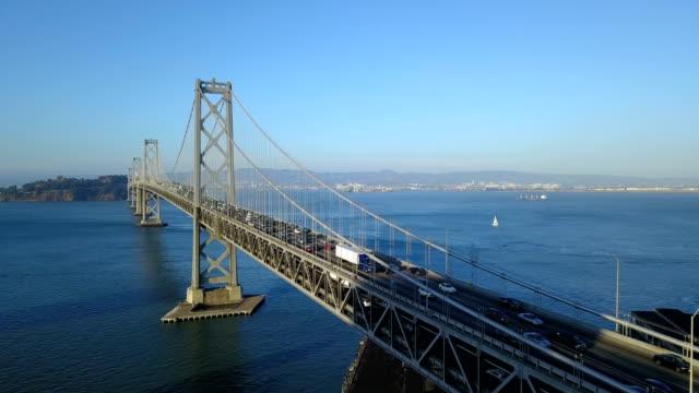Rush-Hour-Traffic-Traveling-Slow-Bay-Bridge-Deck-San-Francisco-CA