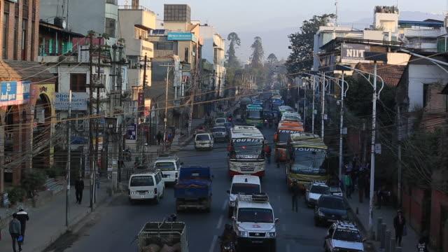 Kathmandu,Nepal---November-12,-2016:--Street-view-of-traffic-in-Kathmandu,Nepal.Fast-motion