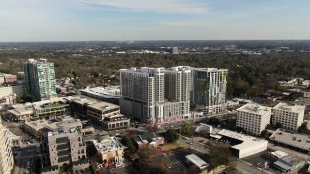 Aerial-of-Buckhead,-Atlanta,-Georgia