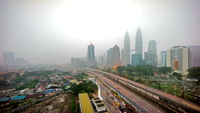 4k-footage-time-lapse-Kuala-Lumpur-city-during-severe-haze-