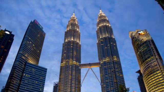 Puesta-de-sol-de-rotación-centro-de-la-ciudad-de-Kuala-Lumpur-Timelapse
