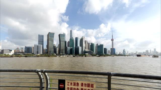 Zeitraffer-(Hyper-Zeitraffer)-Shanghai-Stadtbild-und-skyline