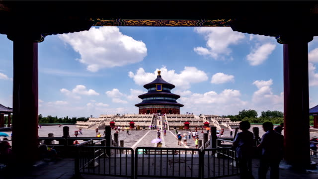 Beijing-China-Jun-20-2014:The-cloudscape-and-the-Qinian-Palace-of-the-Temple-of-Heaven-in-Beijing-China