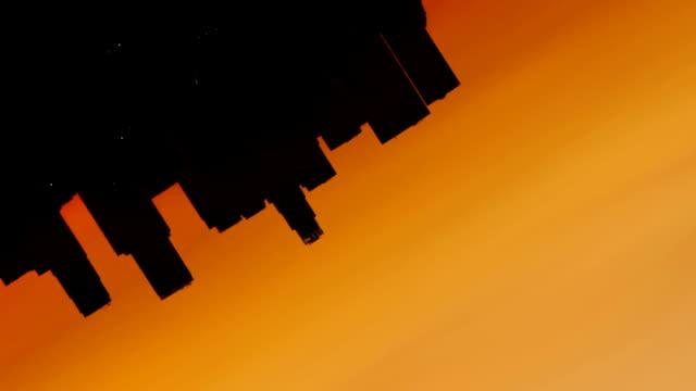 Time-lapse-rotate-Los-Angeles-skyline-sunrise