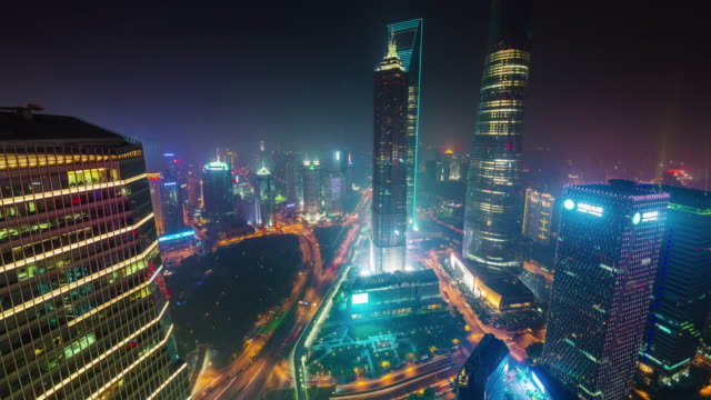 china-night-illumination-traffic-street-shanghai-cityscape-roof-top-panorama-4k-time-lapse