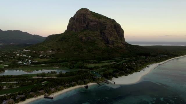 Le-Morne-Brabant-peninsula-with-mountain-aerial-Mauritius