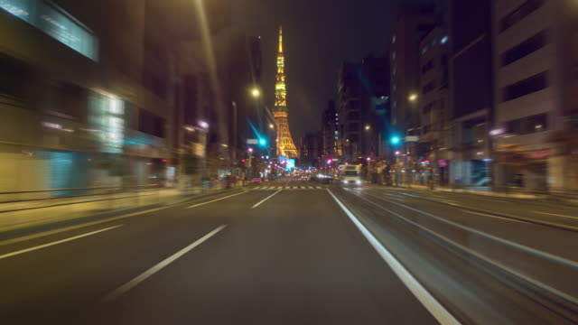 Video-running-Japan-National-Route-1-towards-Tokyo-Tower