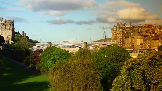 Panoramic-view-of-Edinburgh-city-at-sunset-Scotland-United-Kingdom-