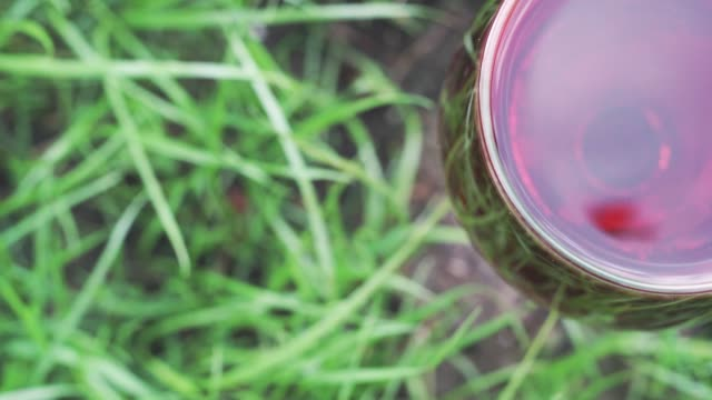 glass-of-wine-on-a-grass-background-close-up-