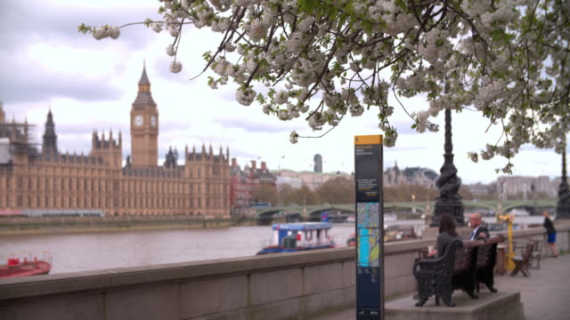 Londres-resorte-casas-del-parlamento-de-Albert-Embankment