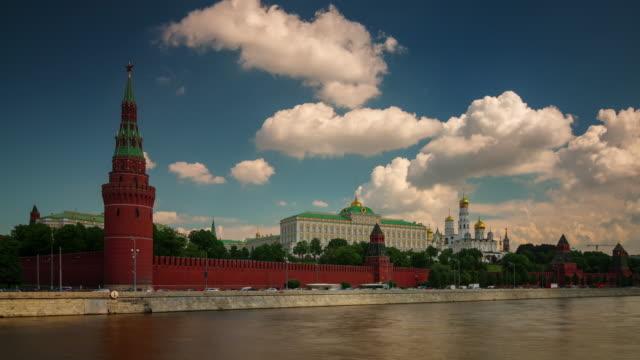panorama-de-pared-del-kremlin-Bahía-de-Río-de-Rusia-Moscú-día-soleado-4k-lapso-de-tiempo