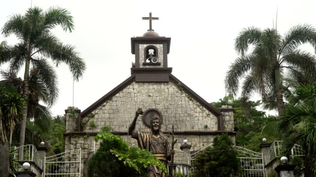 Catholic-Church-with-palm-trees