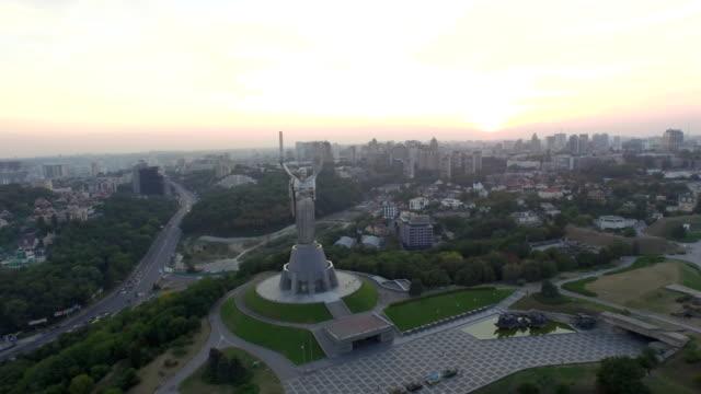 Panorama-de-Kiev-Ucrania-Madre-patria-Vista-aérea-