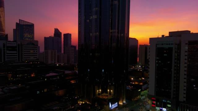 Beautiful-magical-sunset-in-Abu-Dhabi-city-United-Arab-Emirates