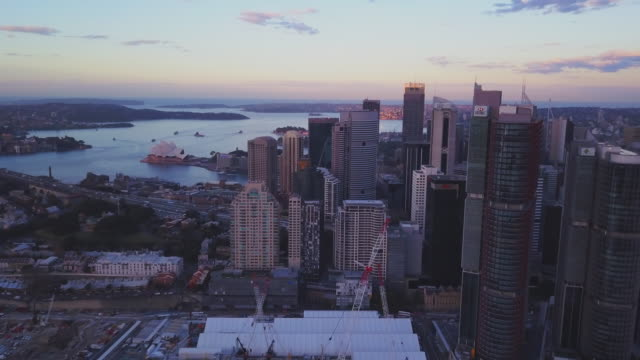 Drone-view-of-Sydney-city-skyline