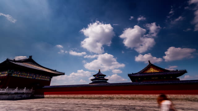 Beijing-China-Jun-20-2014:The-cloudscape-and-the-main-hall-of-the-Temple-of-Heaven-in-Beijing-China