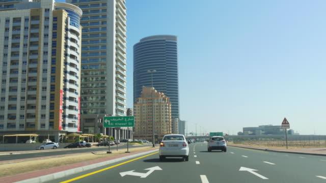 uae-dubai-tecom-road-traffic-day-light-time-4k