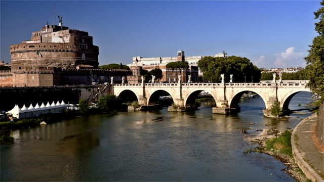 Castle-of-San-Angelo-Rome-Italy-Time-Lapse