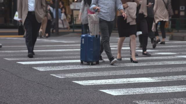 People-walking-on-the-crosswalk-(Slow-Motion-Video)-Ginza-&-Yurakucho-in-Summer