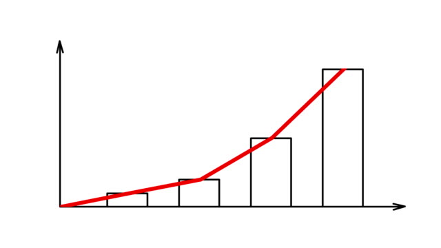 Gráfico-de-barras-con-eje-de-flechas-crecer-negocio-gráfico
