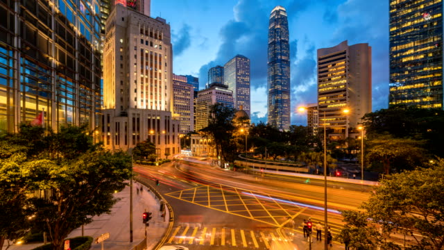4K-Time-Lapse-:-Hong-Kong-Business-area