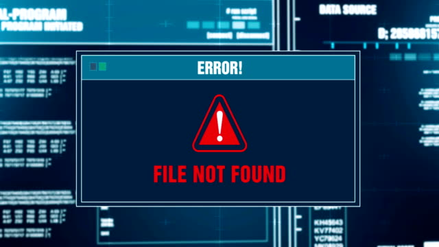 Busca-archivos-progreso-ADVERTENCIA-mensaje-archivo-no-encontrado-alerta-en-la-pantalla-de-la-computadora-entrar-en-sistema-y-contraseña-Sistema-de-seguridad-delito-cibernético-informático-Hacking-concepto