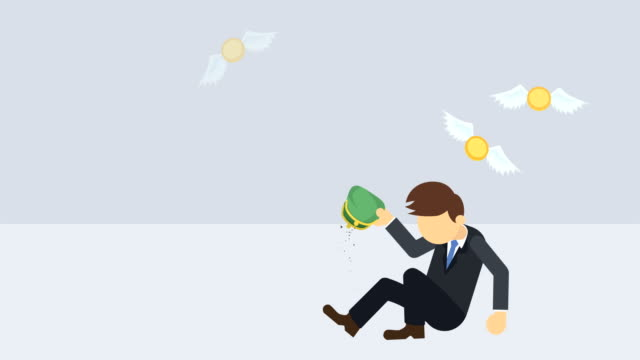 Poor-business-man-Inequality-concept-Loop-illustration-in-flat-style-