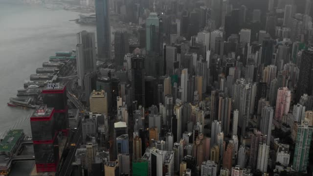 4k-video-central-of-Hong-Kong-scene-with-fog-mist-in-Day-time